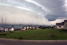 Shelf cloud over south Janesville, Wisconsin by Matt Heeran