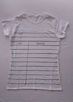 Library check-out card tees - Boing Boing