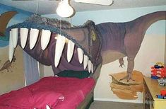 A Place Where Dino-Loving Kids can Rest Their Heads and Dream #DIY trendhunter.com