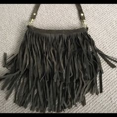 Bag Dark green bag w fringe never used perfect condition from boutique NOT URBAN OUTFITTERS Urban Outfitters Bags Crossbody Bags