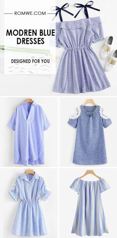 DESIGNED FOR YOU - MODREN BLUE DRESSES