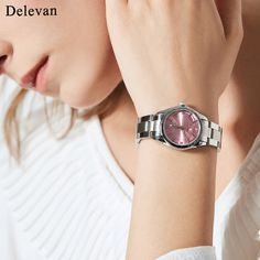 48d526c8b11 Delevan Women Watches Luxury Brand Fashion Quartz Ladies Rhinestone watch  Dress waterproof Watch Casual Clock relogio feminino