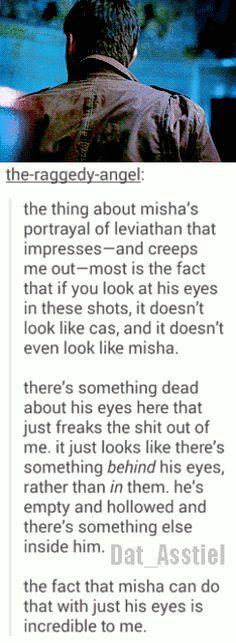 Misha is an amazing actor