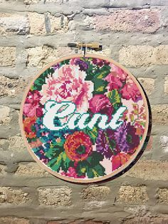 PDF Pattern: Floral Cunt Cross Stitch