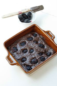 Natural+Lovely: Blackberry + Honey Brownies #glutenfree #grainfree #sugarfree #soyfree #dairyfree #paleo #primal #recipe #naturalandlovely www.naturalandlovely.com