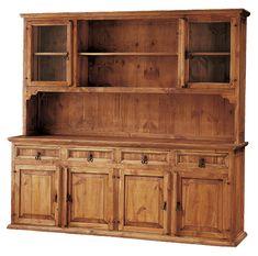 Armario ropero de 3 cajones y 2 puertas de estilo rustico for Fabrica de muebles de pino precios