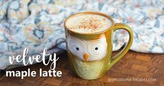 This low-carb Velvety Maple Latte is full of healthy fats to get your metabolism going! THM:S, sugar free, gluten/egg free with dairy/nut free option