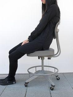 cool minimalist refurbished industrial chair