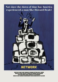 """Poster for """"Network"""" - 1976 by Sidney Lumet."""