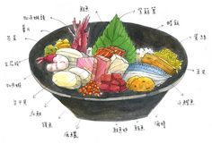 chirashi sushi by smallx2, via Flickr