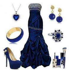 Amazing blue formal decorated with crystals Formal Gowns, Formal Wear, Sexy Christmas Outfit, Evening Dresses, Prom Dresses, Blue Dresses, Prom Outfits, Dress Outfits, Lovely Dresses