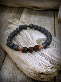 Mens Beaded Bracelet Mens Beaded Bracelet by StoneWearDesigns