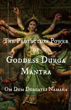 The Protection Power of Goddess Durga Mantra – Om Dum Durgayei Namaha Durga Maa, Shiva Shakti, Durga Goddess, Goddess Art, Sacred Feminine, Divine Feminine, Chakras, Durga Images, Spiritual Images