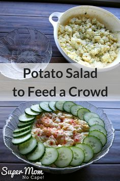 Potato Salad to Feed a Crowd - make the night before to have it ready for game day or your potluck picnic or BBQ via @susanflemming