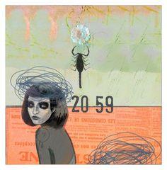 """""""la fleur et le scorpion"""" by vero-klo ❤ liked on Polyvore featuring art"""