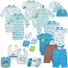 Gerber Newborn Baby Boy 22-Piece Perfect Baby Shower Gift Layette Set Size 0-3M, Blue, Size: 0 - 3 Months