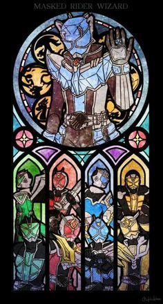 Kamen Rider Stained Glass. Kamen Rider Wizard, Kamen Rider Series, Japanese Superheroes, Cute Japanese, Power Rangers, Raiders, Cool Pictures, Character Design, Marvel