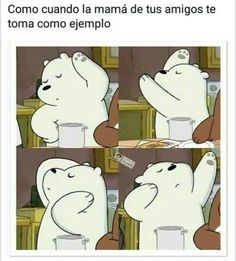 Read Ramdon from the story ¡¡Memes De lo que sea! Funny Spanish Memes, Spanish Humor, Funny Memes, Mexican Memes, We Bare Bears, Otaku Anime, Best Memes, Funny Pictures, Fan Art