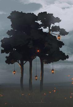 tangled lanterns by sheer-madness.deviantart.com on @deviantART