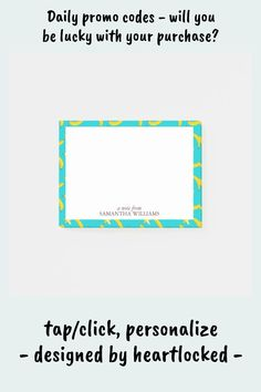 Shop Fun Bananas Pattern Personalized Post-it Notes created by heartlocked. Personalize it with photos & text or purchase as is! Office Stationery, Sweet Notes, Pattern Names, Pretty Patterns, Personalized Stationery, Note Paper, Sticky Notes, Office Gifts, Bananas