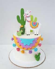 Cake nature fast and easy - Clean Eating Snacks Llama Birthday, My Birthday Cake, Girl Birthday, Fiesta Cake, Cactus Cake, Book Cakes, Animal Cakes, Chocolate Decorations, Partys