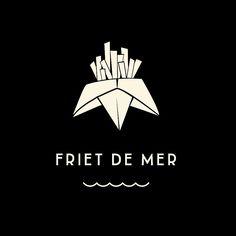 Logo ontwerp voor friet met liefde en ZEEzout.