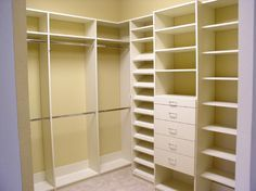 l shaped closets - Google Search