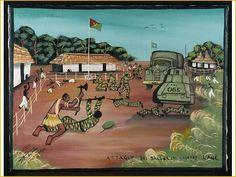 Tshibumba Kanda Matulu, De gevechten van de Luba-Kasai en het nationale leger (ANC) in augustus 1960. Collecties online - Tropenmuseum