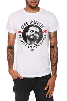 """""""CM Punk Is Not Impressed"""" Shirt - This is pure gold. So much want."""