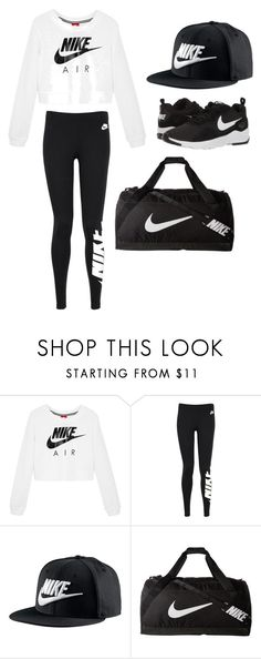 """NIKE"" by maiadulworth on Polyvore featuring NIKE"