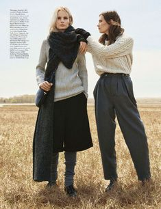 visual optimism; fashion editorials, shows, campaigns & more!: sweater weather: irene hiemstra and drake burnette by scott trindle for w august 2014