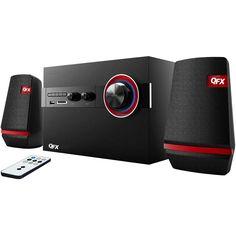 QFX 2.1 Channel Bookshelf Stereo Bluetooth AM-FM Radio USB-SD