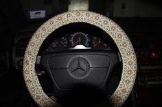 Gold and Navy Steering Wheel Cover  New Year by SouthernAplus