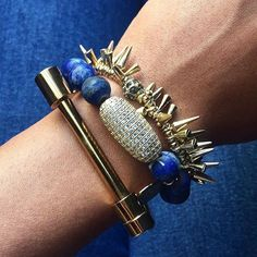 #Repost @househospitable  I'm in love with my new @kinsleyarmelle bracelets! As you can see the cobalt bracelet from the Morsel Collection is so cute with jeans you'll probably want one for yourself.  Happy Monday Friends!  #kinsleyarmelle #jewelry #bracelets #stackbracelets #bluejewelry #kinsleyarmelleambassador