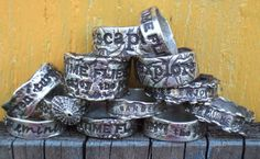 Wedding Rings Personalized Silver Ring Silver by HappyGoLicky, $65.00