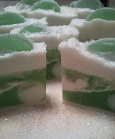 FROZEN MARGARITA Shea Butter and Sea Salt Scrub Bar - Lime Soap, Lime and Sea Salt, Soothing Shea Butter Soaps