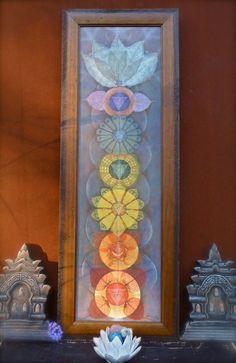 Energy LOTUS CHAKRAS painting yoga art reiki energy YOGA by GPyoga
