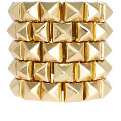 Asos Mega Stud Bracelet ($26) ❤ liked on Polyvore