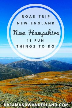 What to do on a road trip in New England? Here are 11 fun things to do in New Hampshire which you shouldn't miss out! travel destinations usa New England: 11 Fun Things To Do In New Hampshire - Dream and Wanderland New Hampshire, Solo Travel, Travel Usa, Travel Tips, Travel Europe, Travel Hacks, Beach Travel, Spain Travel, Travel Packing