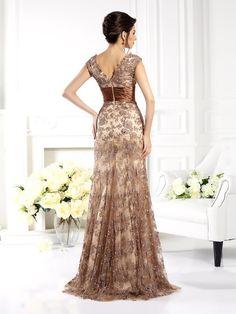 A-Line/Princess V-neck Ruffles Sleeveless Long Satin Mother of the Bride Dresses