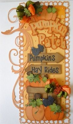 Vertical Border...Pumpkin Patch...for scrapbooking but I would like this for wall decor too