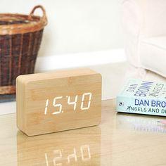 Brick Alarm Clock - Beech/Whit