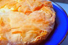 Greek Milk Pie Milk Pie Recipe, Greek Sweets, Cream Pie, Custard, Pie Recipes, Pineapple, Fruit, Desserts, Cook