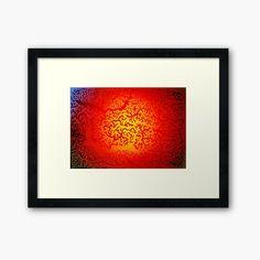 'Eye of the Sun - Doodle' Framed Print by LeonKramer Sun Doodles, Color Blending, Centerpiece Decorations, Off Colour, Custom Boxes, Box Frames, Framed Art Prints, Print Design, My Arts