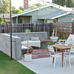A modern California drought tolerant backyard remodel