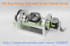 Hotsale 5th Axis Rotary Axis with 3 Jaw Clamp Chuck for CNC Router ...