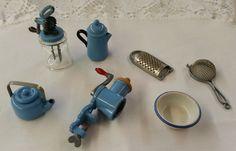 Bodo Hennig Miniature Dollhouse Kitchen Utensils Butter Churn Kettle Grinder Lot #BodoHennig