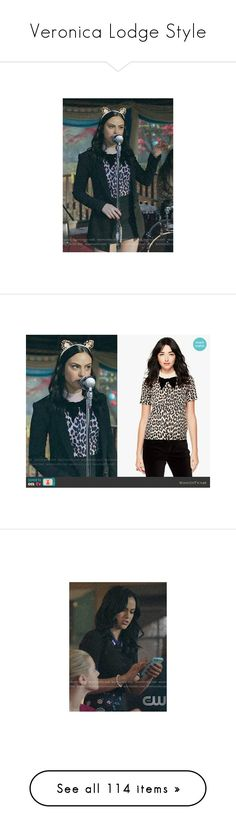 """""""Veronica Lodge Style"""" by demiwitch-of-mischief on Polyvore featuring VeronicaLodge, riverdale, tops, sweaters, dresses, short-sleeve dresses, short sleeve dress, jewelry, necklaces and hinged bangle"""