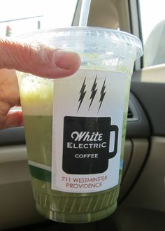 White Electric Coffee in Providence, RI is a fun hangout with free wifi great coffee and also a fabulous iced matcha latte.