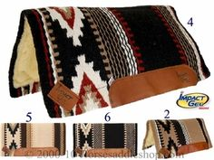 "Woven Impact Gel Saddle Pad 36"" x 34"" p-ig1332 (number 4)"